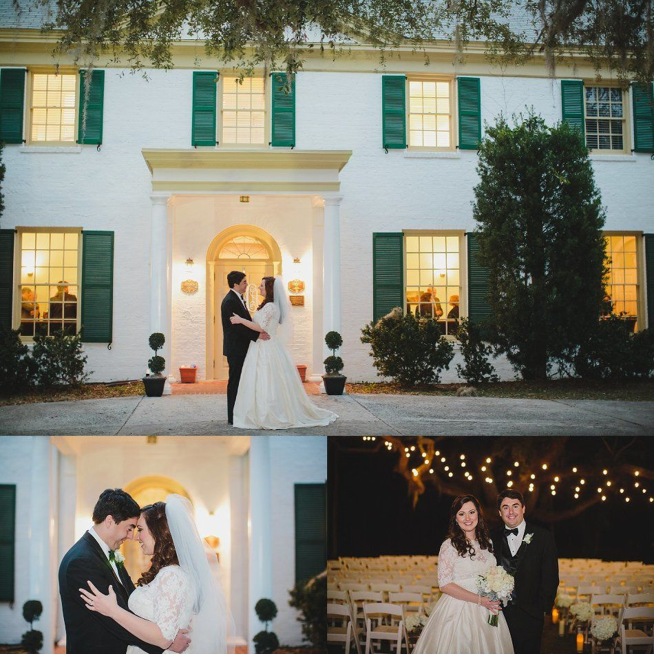Wedding Photography Blog Ideas: The Ribault Club Wedding, Jacksonville FL, January, Night