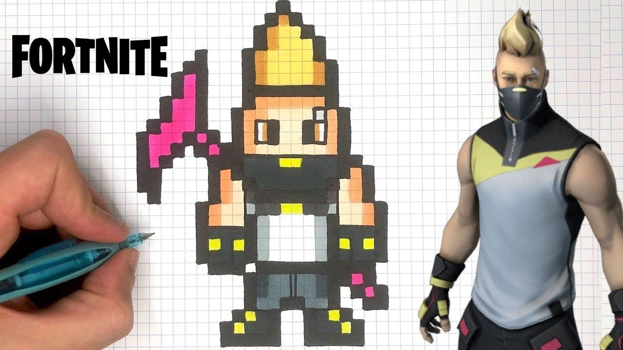 Dessin Fortnite Facile Skin Banane How To Draw Drift Skin Pixel