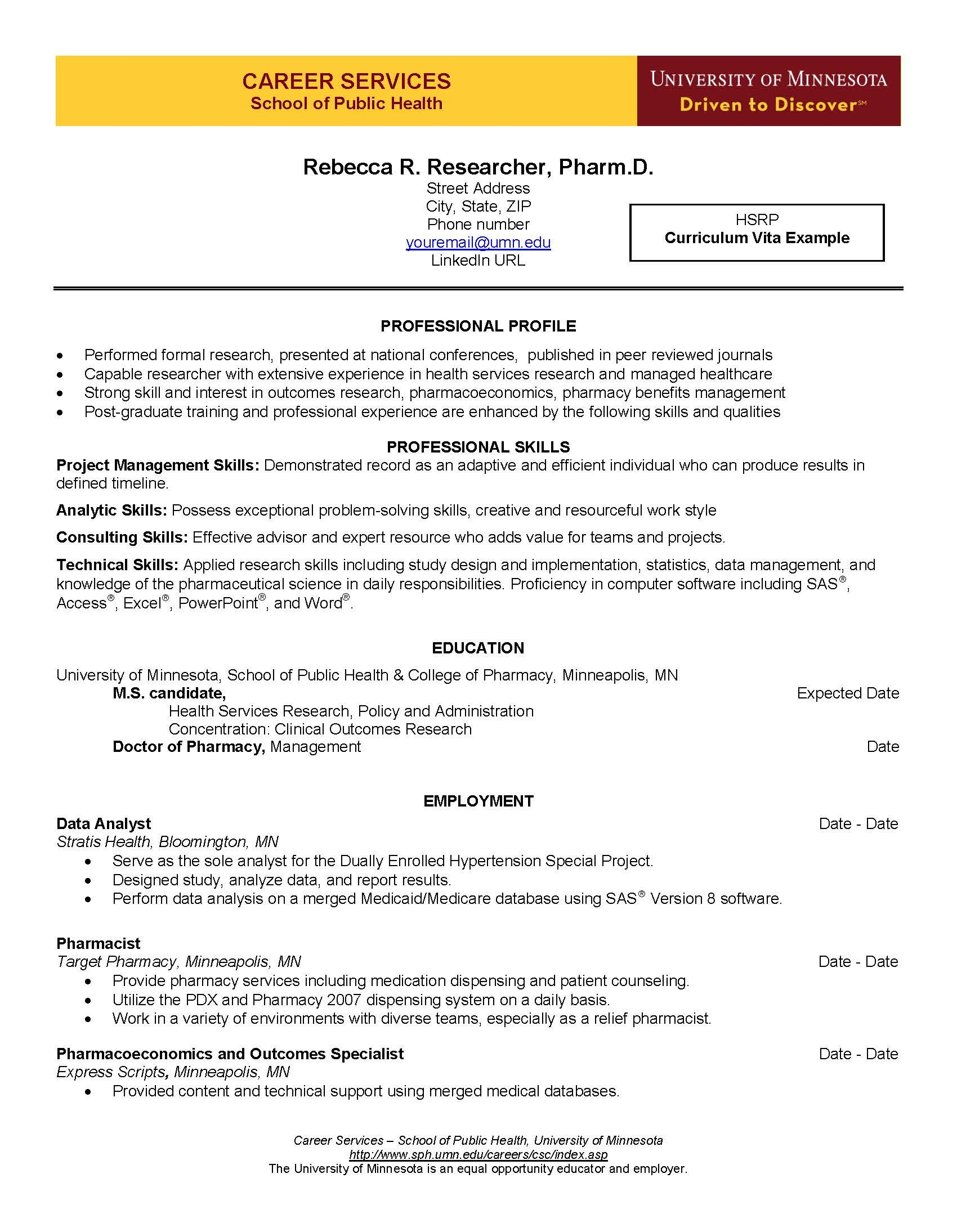 cv categories part curriculum vita guide cv example page 1