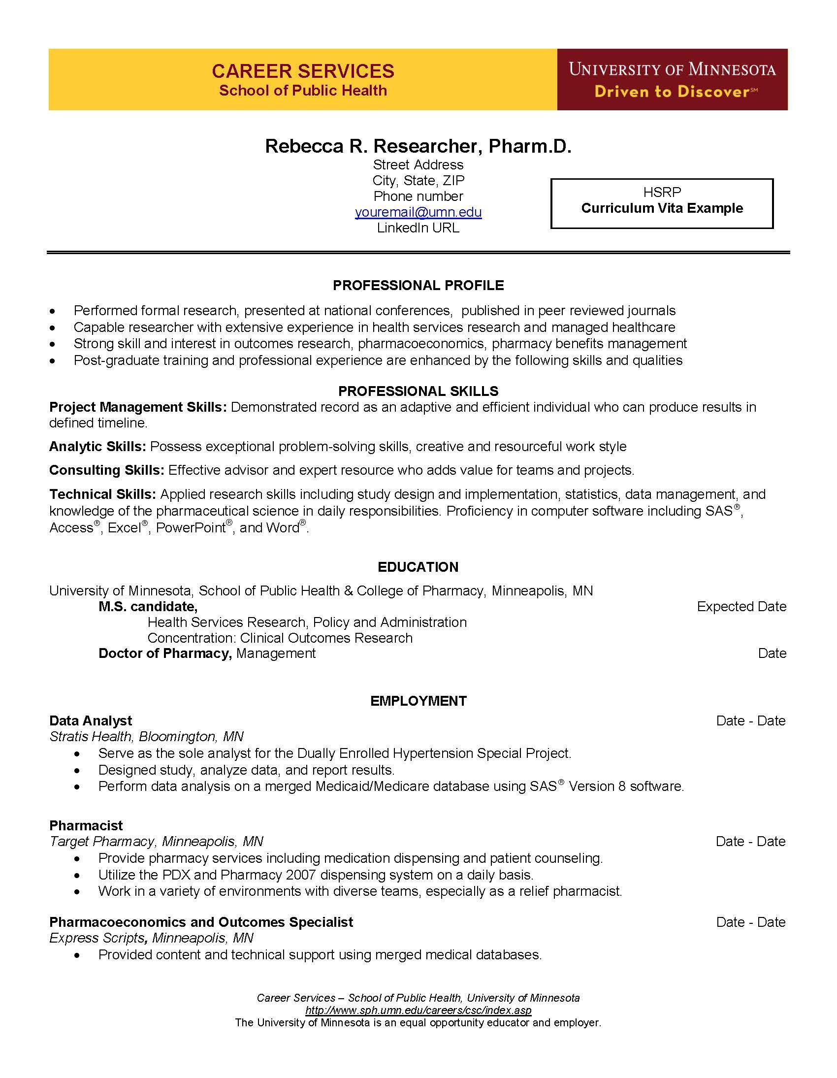 cv example page 1 curriculum vita guide pinterest cv examples