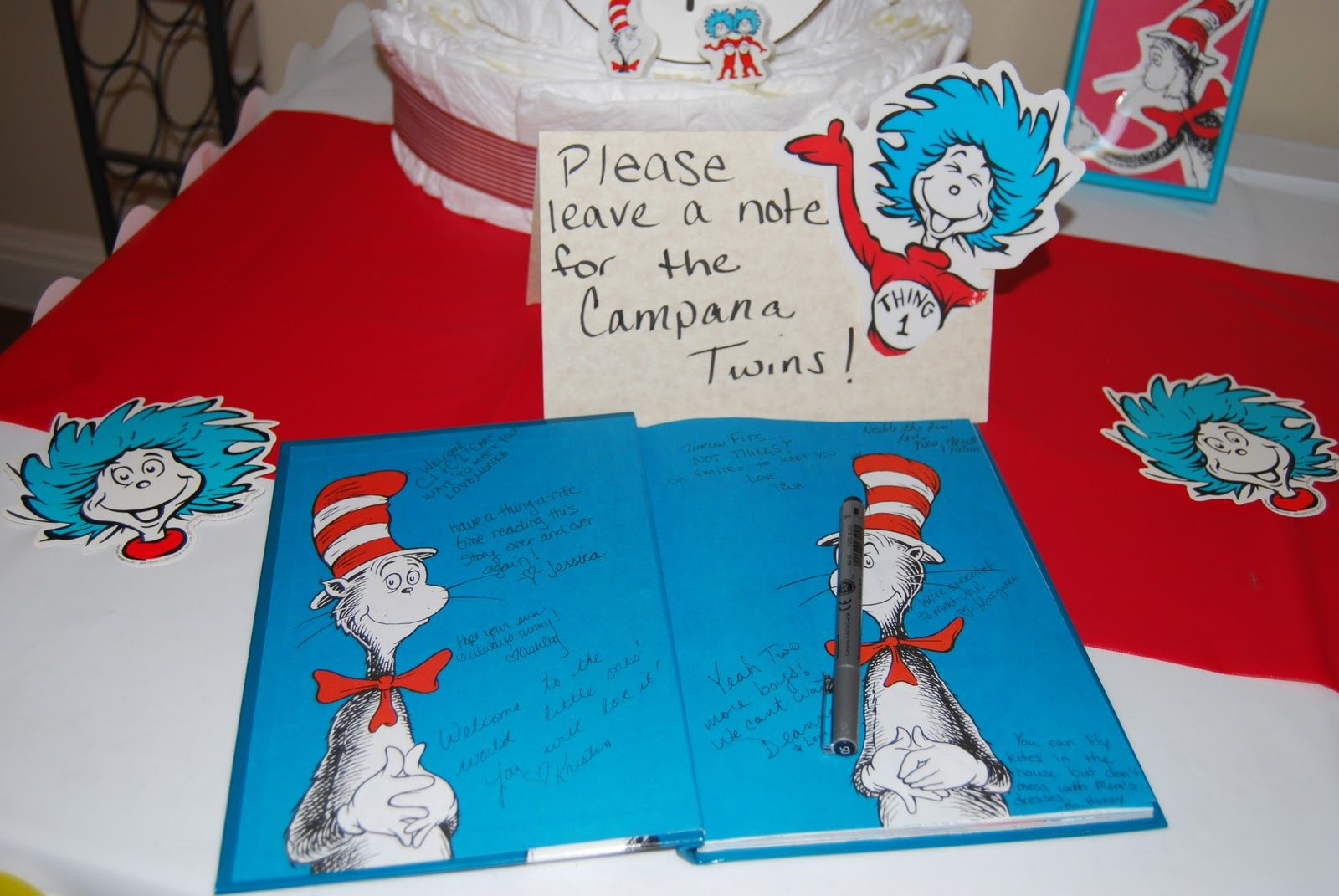 baby shower thing 1 and thing 2   From the doghouse...: Thing 1 and Thing 2 Baby Shower.