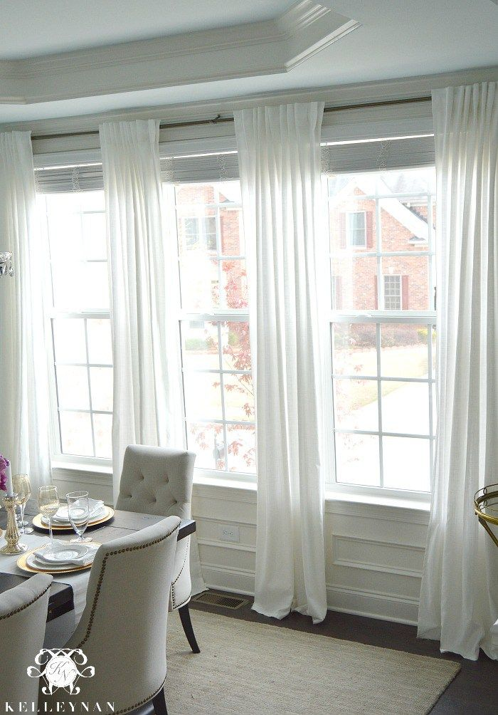 The Favorite White Budget Friendly Curtains. Dining Room ...
