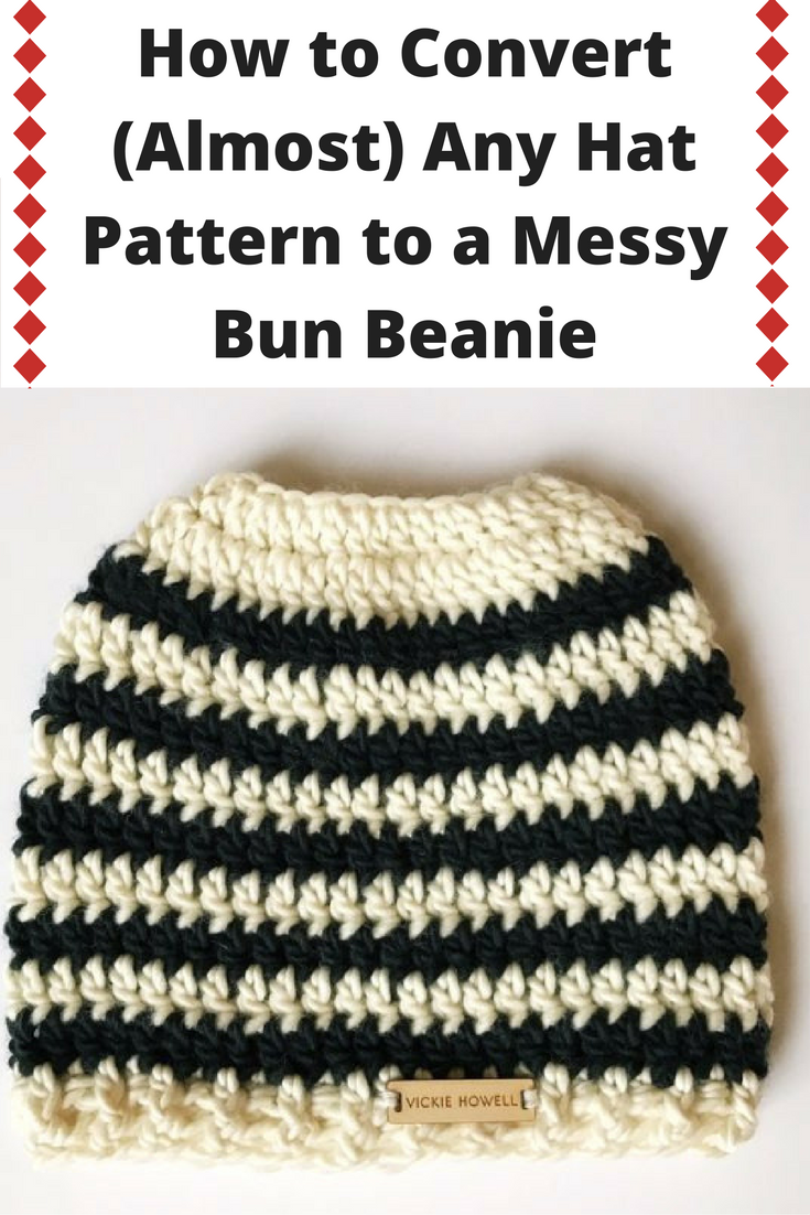 How to Convert (Almost) Any Hat Pattern to a Messy Bun Beanie ...