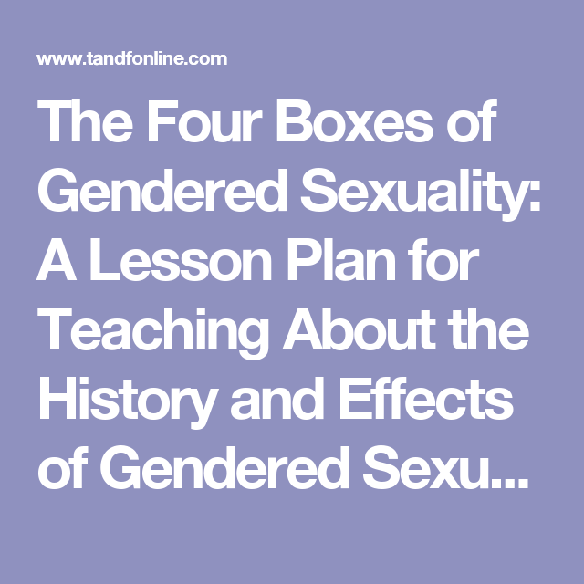 Sexuality lesson plan