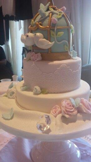 La cage aux oiseaux wedding cake pi¨ce montée mariage