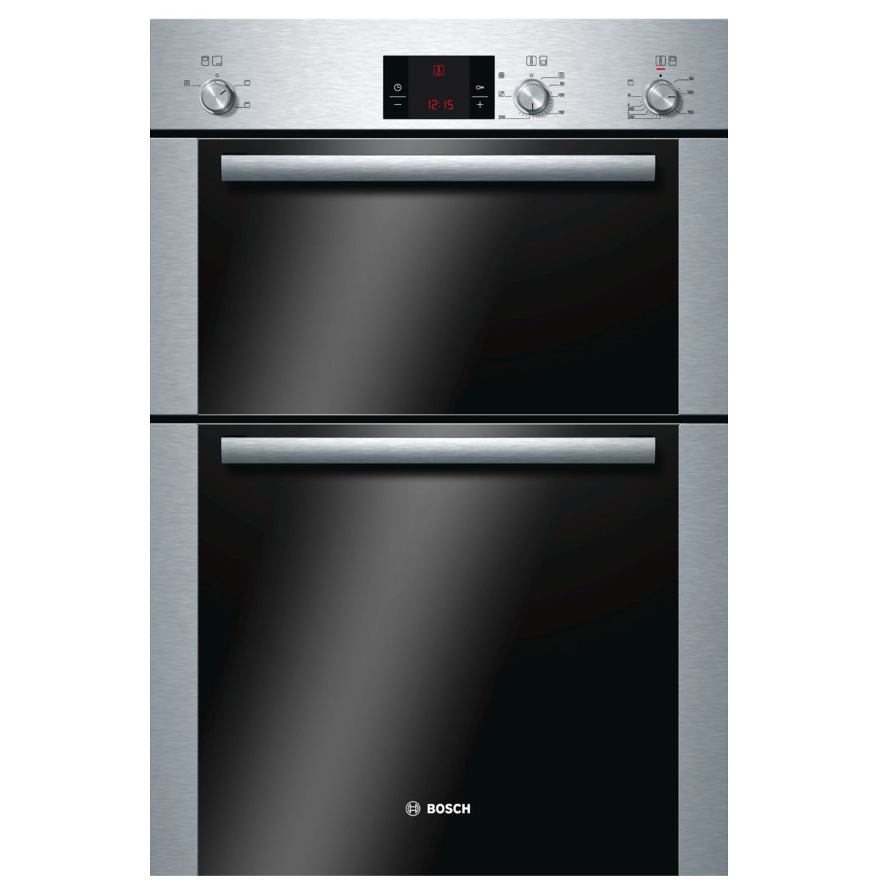 Bosch Hbm13b252b Brushed Steel Electric Double Oven