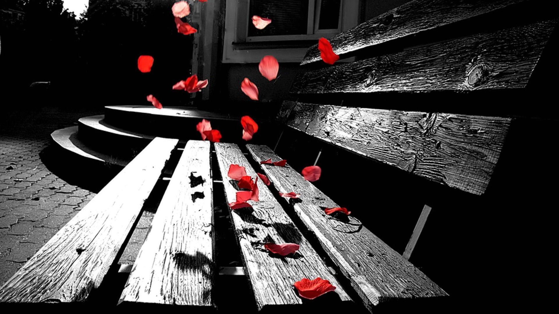 Man Made Bench Wallpaper Romantic Wallpaper Photography Wallpaper Color Splash Photography