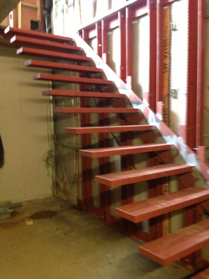 Floating Stairs Design And Installation Surrey Steels | Structural Steel Stair Design | Steel Construction | 4 Column Steel | Detailing | Steel Staircase | Small Space