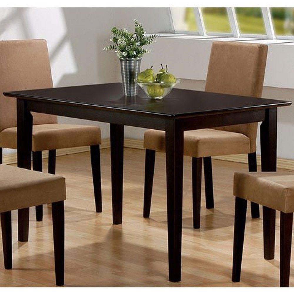 Modern Dining Table Wood Small Dine Room Rectangular Kitchen Custom Small Rectangular Kitchen Table Inspiration