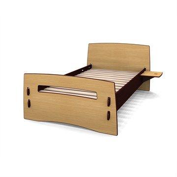 Slot-together bed.