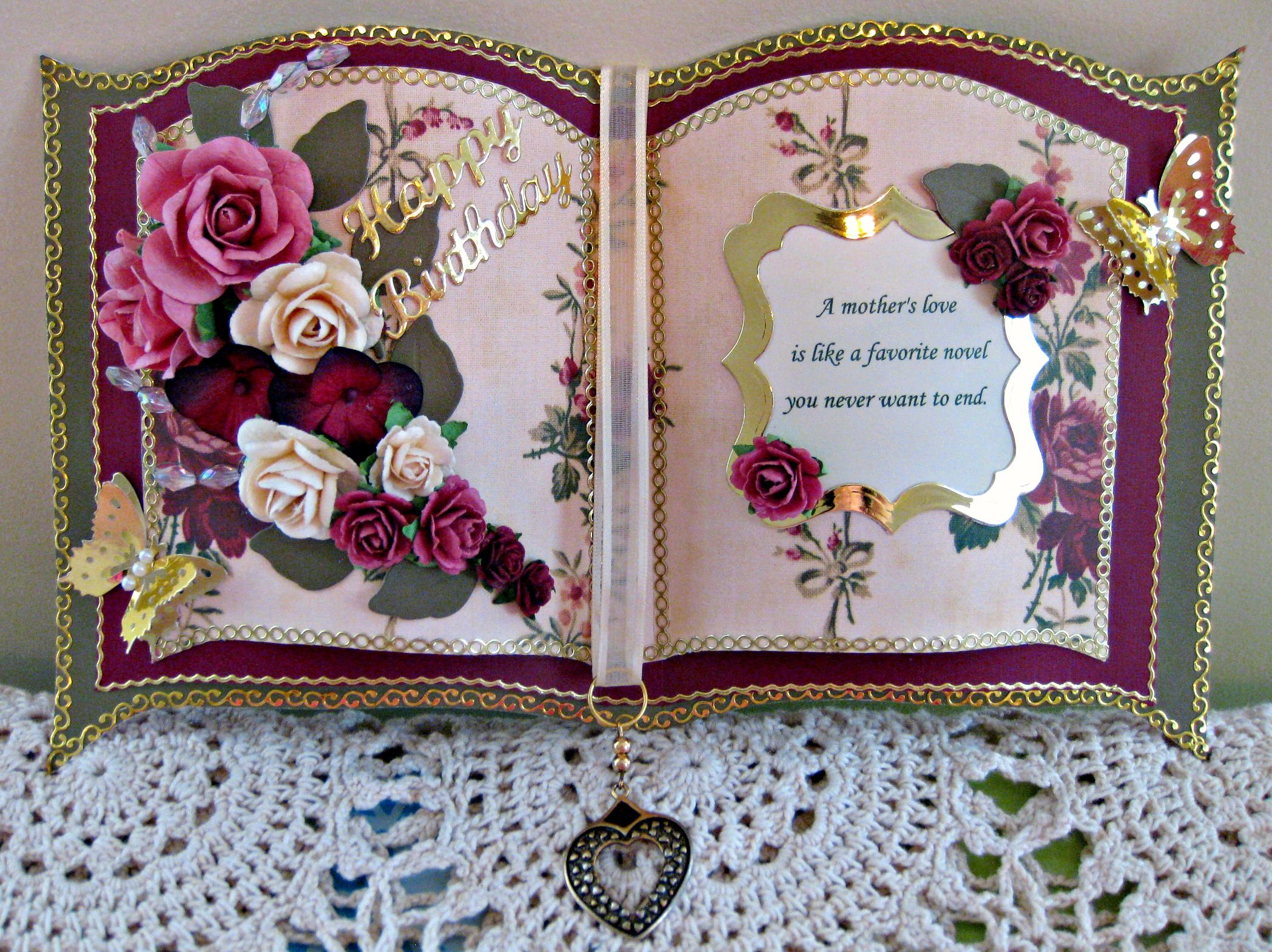 Birthday To Mom Bookatrix Shaped Cards Cards Card Craft