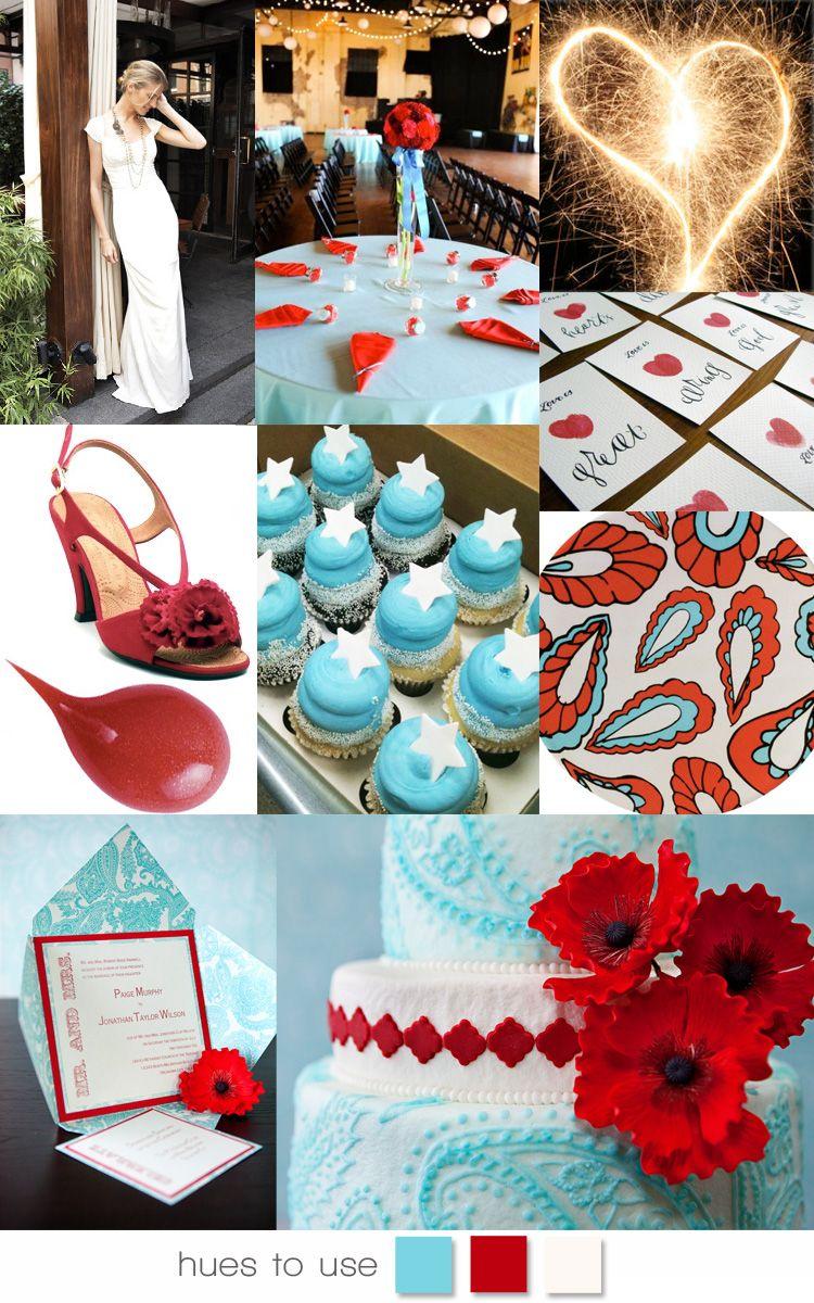 Independence Inspiration July wedding, Aqua wedding