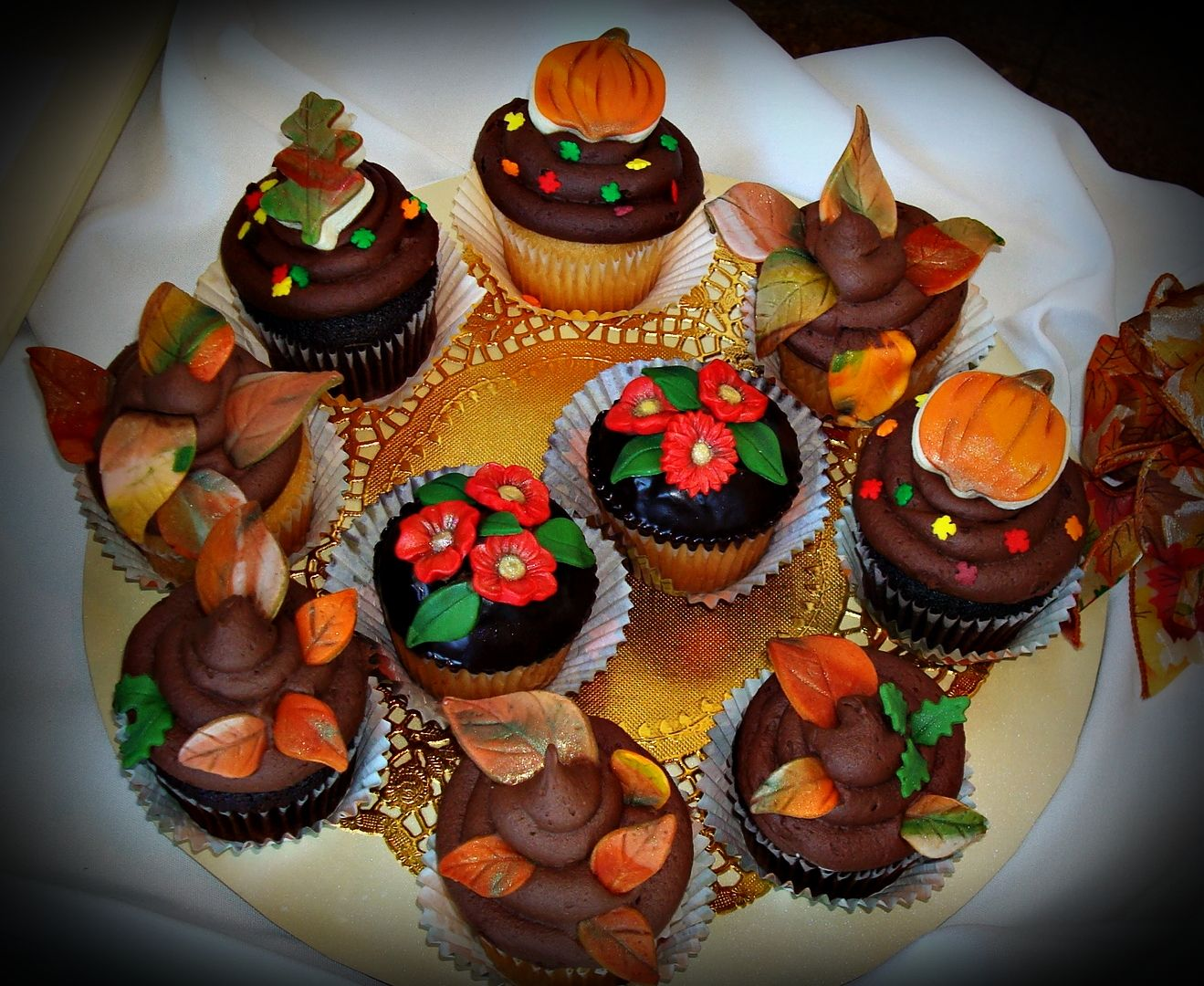 Fall Cupcake Decorations Part - 37: Fall Wedding Cupcake Decorations | 3222646 1024x838 Autumn Time Cupcake  Decorations