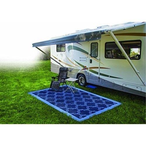 Outdoor Rug 9x12 Ft Lightweight Floor Carpet Reversible Mat Mold