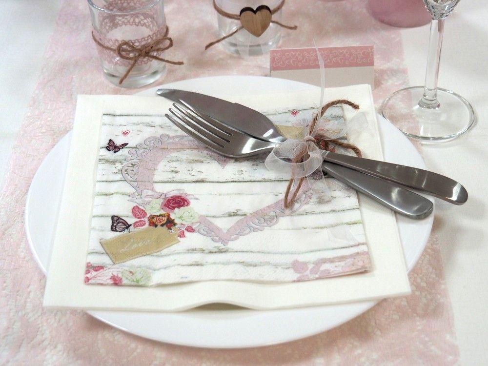 Tischdeko Hochzeit Vintage Rosa Weiss Set Hochzeit