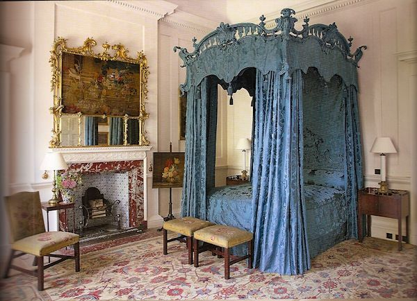 Chippendale Schlafzimmer ~ Dumbfries house chippendale bed completely swathed in silk the
