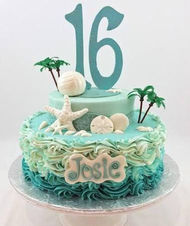 Beautiful sweet 16 cakes that just may inspire you Image via http