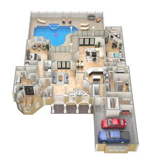 3d Floor Plans Casa Pinterest Haus Ideen Haus And Haus Plane