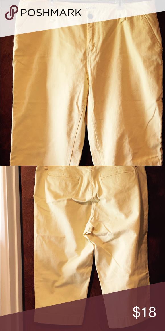 493dfb21bd69e Yellow plus size capri pants Caslon brand
