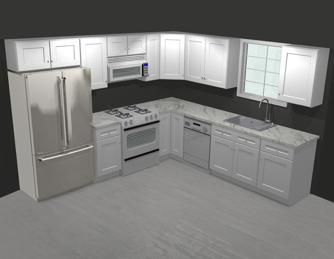 Forevermark Tsg Ice White Shaker 10x10 Kitchen Cabinets 10x10 Kitchen Kitchen Remodel Small Kitchen Cabinets