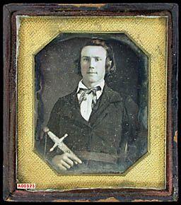 Unidentified California militiaman, holding sword