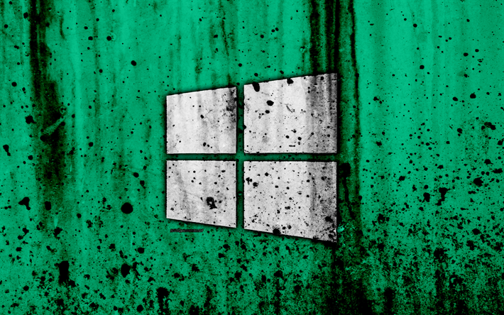 Download Wallpapers Windows 10 4k Creative Grunge Green Backgroud Logo Windows 10 Logo Microsoft Besthqwallpapers Com Wallpaper Windows 10 Apple Wallpaper Computer Wallpaper