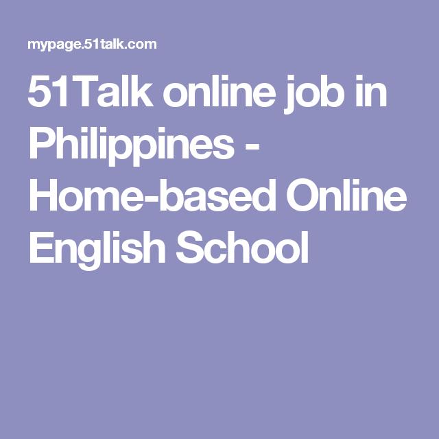 51talk online job in philippines home based online english school