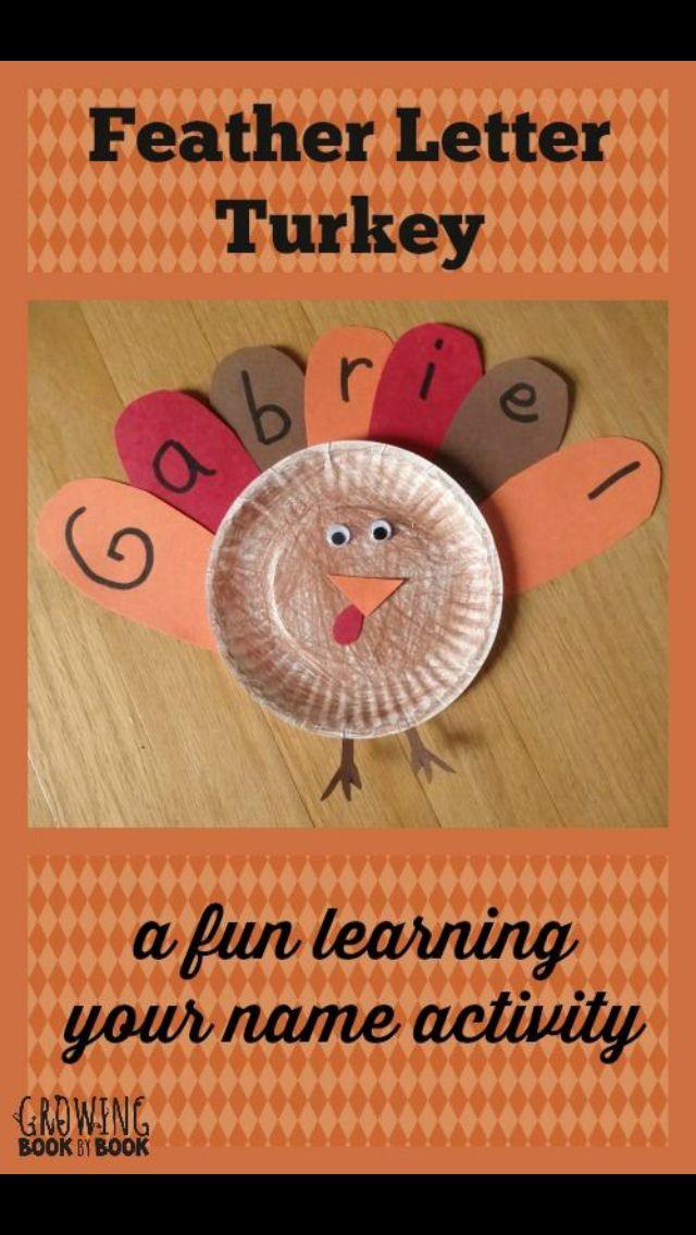 Fun Thanksgiving name activity