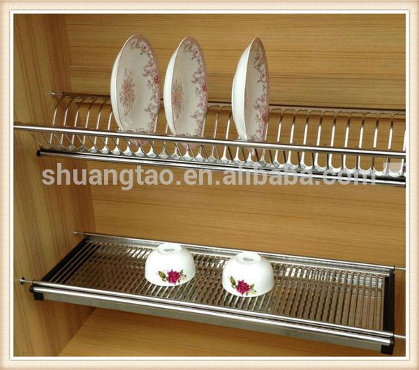 wall-mounted-dish-drying-rack-kitchen-cabinet.jpg (600×531 ...
