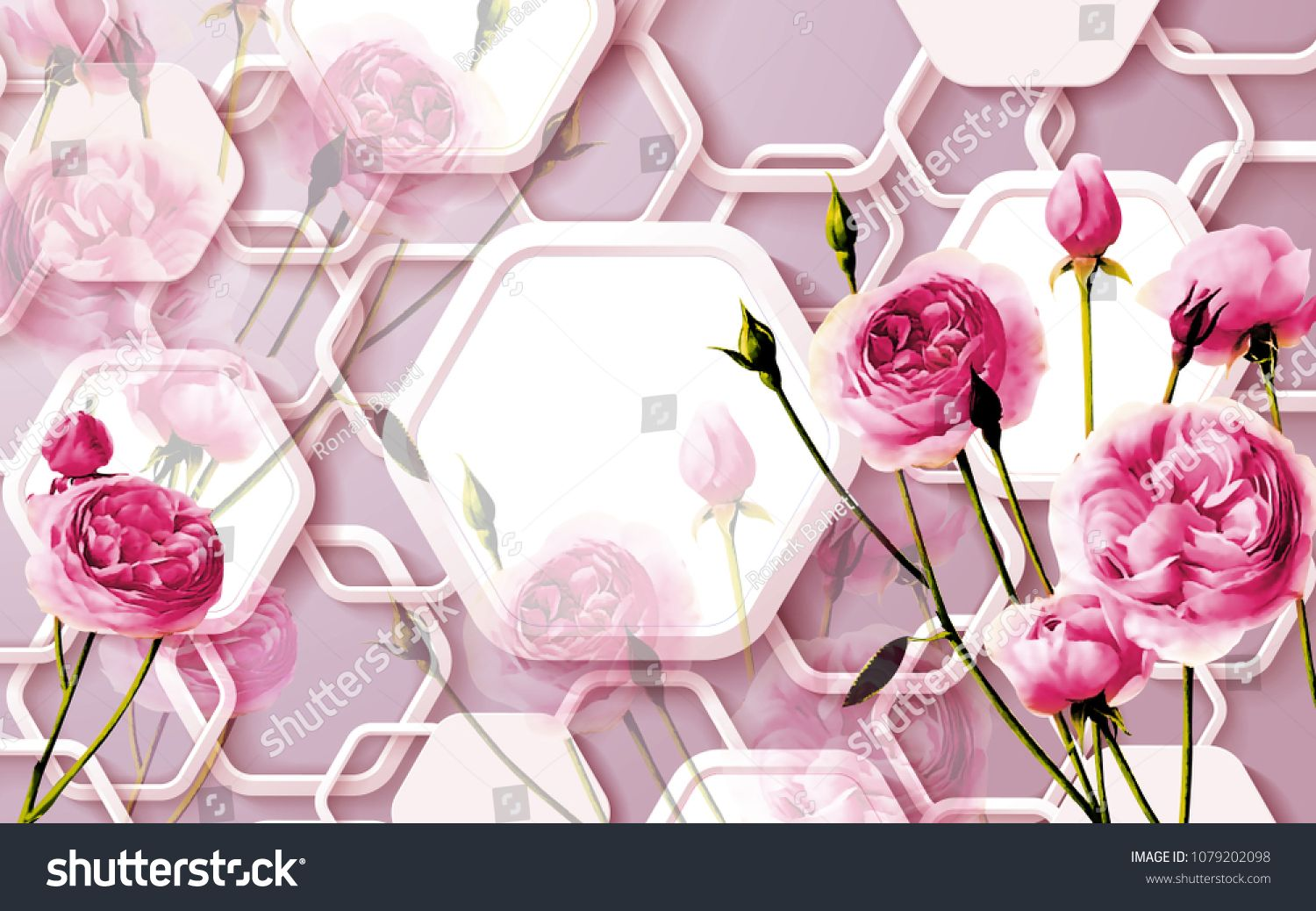 3d Floral Abstract Wallpaper For Walls 3d Rendering Sponsored