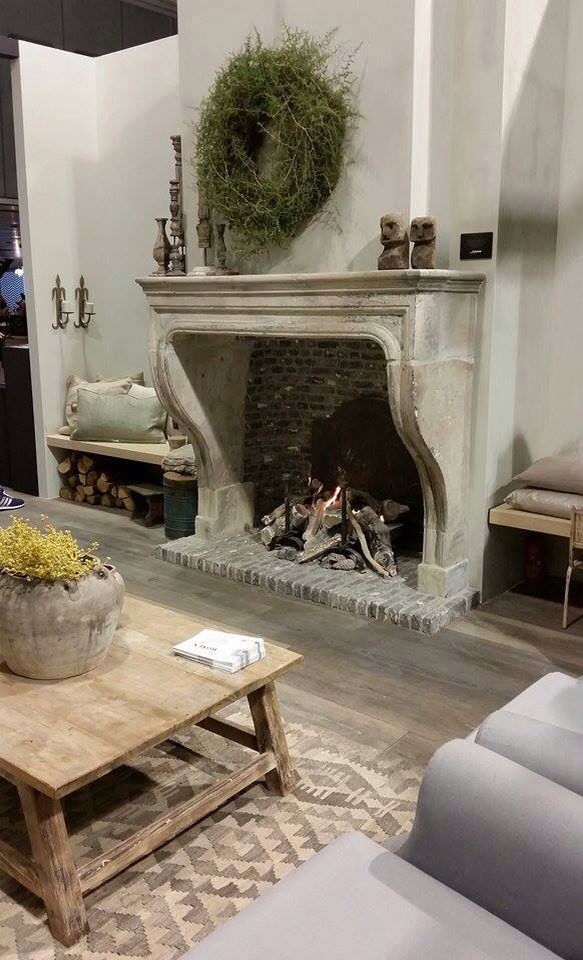 Nice french country fireplace feel feeling sense French country stone