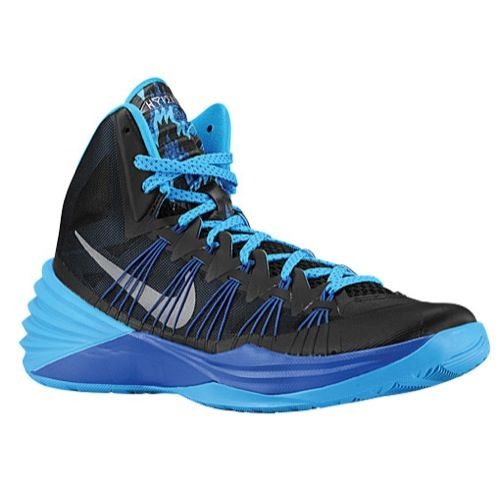 the latest ff852 64725 Nike Hyperdunk 2013 - Men s - Basketball - Shoes - Black Metallic  Silver Game Royal