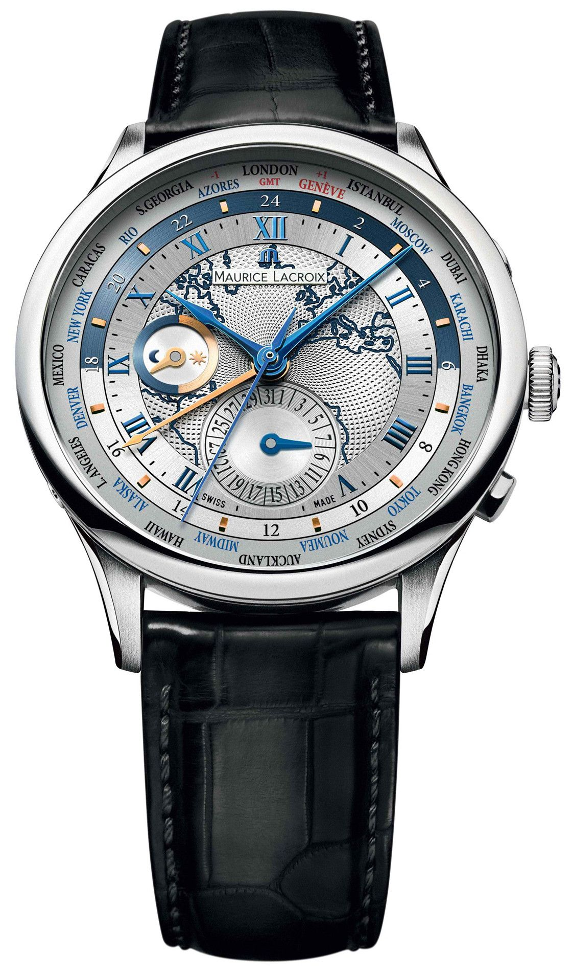 Maurice Lacroix Watch World Timer | Swiss luxury watches