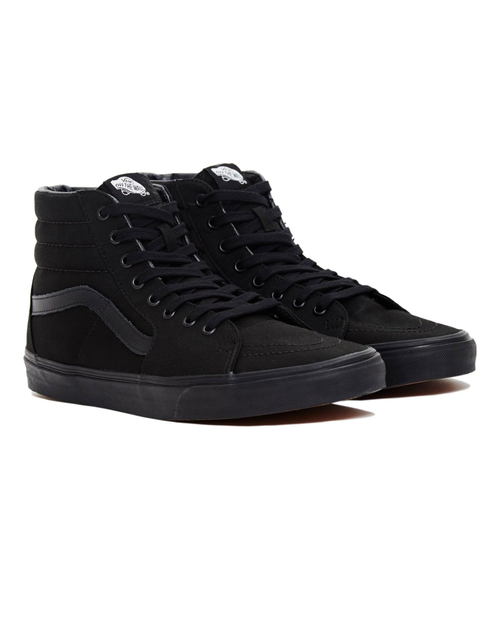 Vans Sk8-Hi Trainers All Black   SHOP NOW at The Idle Man    StyleMadeEasy 82a398bf2d5