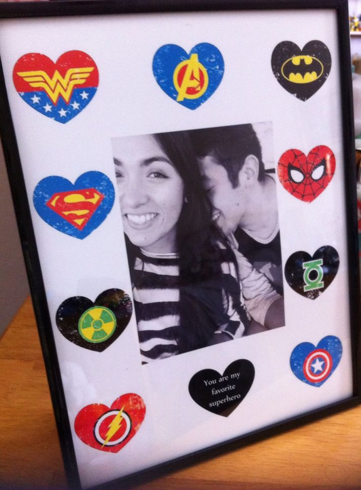 For My Superhero Fan Boyfriend Diy Gifts Superhero
