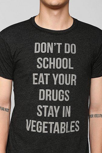 81264ec2 Don't Do School Tee - Urban Outfitters. $28.00. #fashion #men #graphic tee
