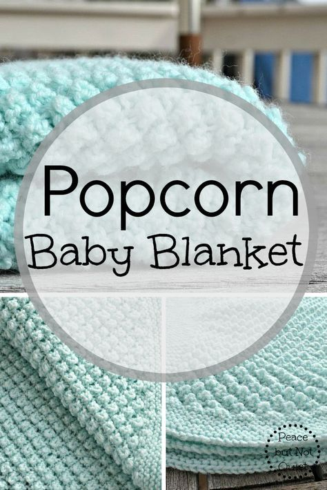 An adorable popcorn baby blanket pattern   Stricken und Häkeln ...