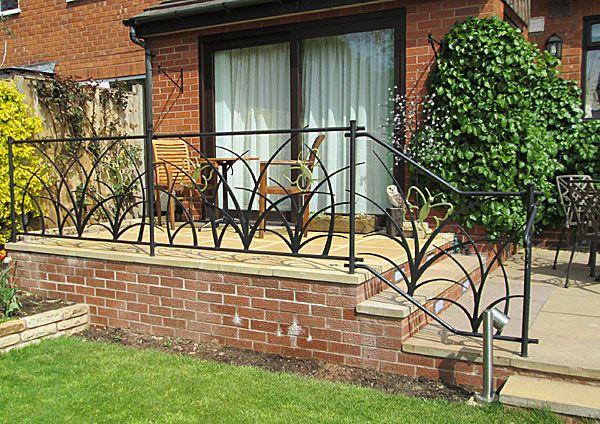 Beau Metal Garden Railings With Organic Theme