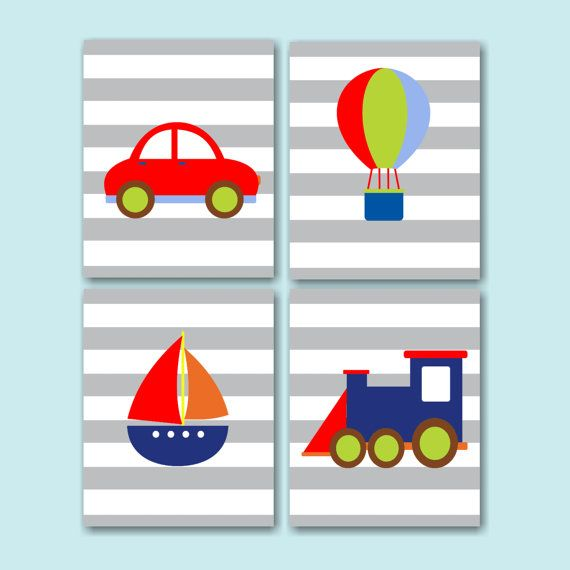 Transportation Kids RoomsTransportation by SweetBloomsDecor