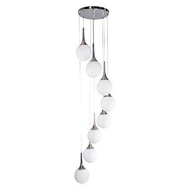 Heywood lustre moderne 8 slots ampoule 00219913 lampes for Lustre ampoules suspendues