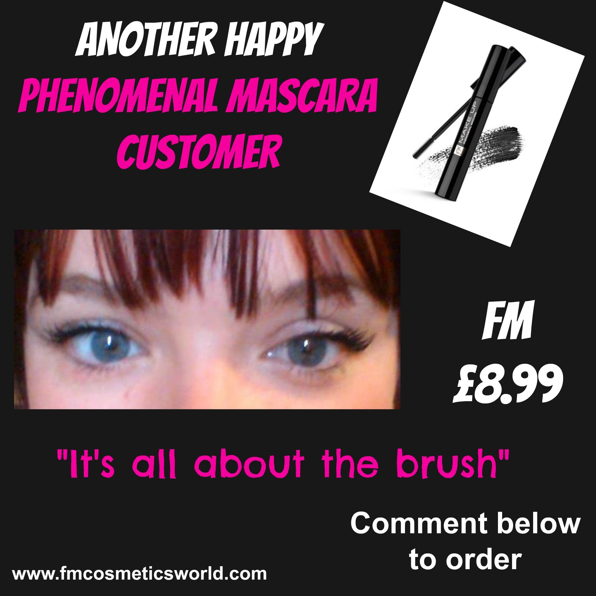 Another happy #fmcosmetics phenomenal #mascara customer!