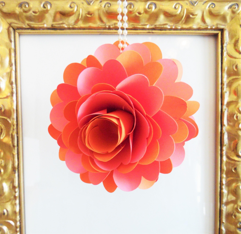 Diy hanging paper rose flower ball paper flower pomander rose balls diy hanging paper rose flower ball paper flower pomander rose balls diy wedding decor mightylinksfo