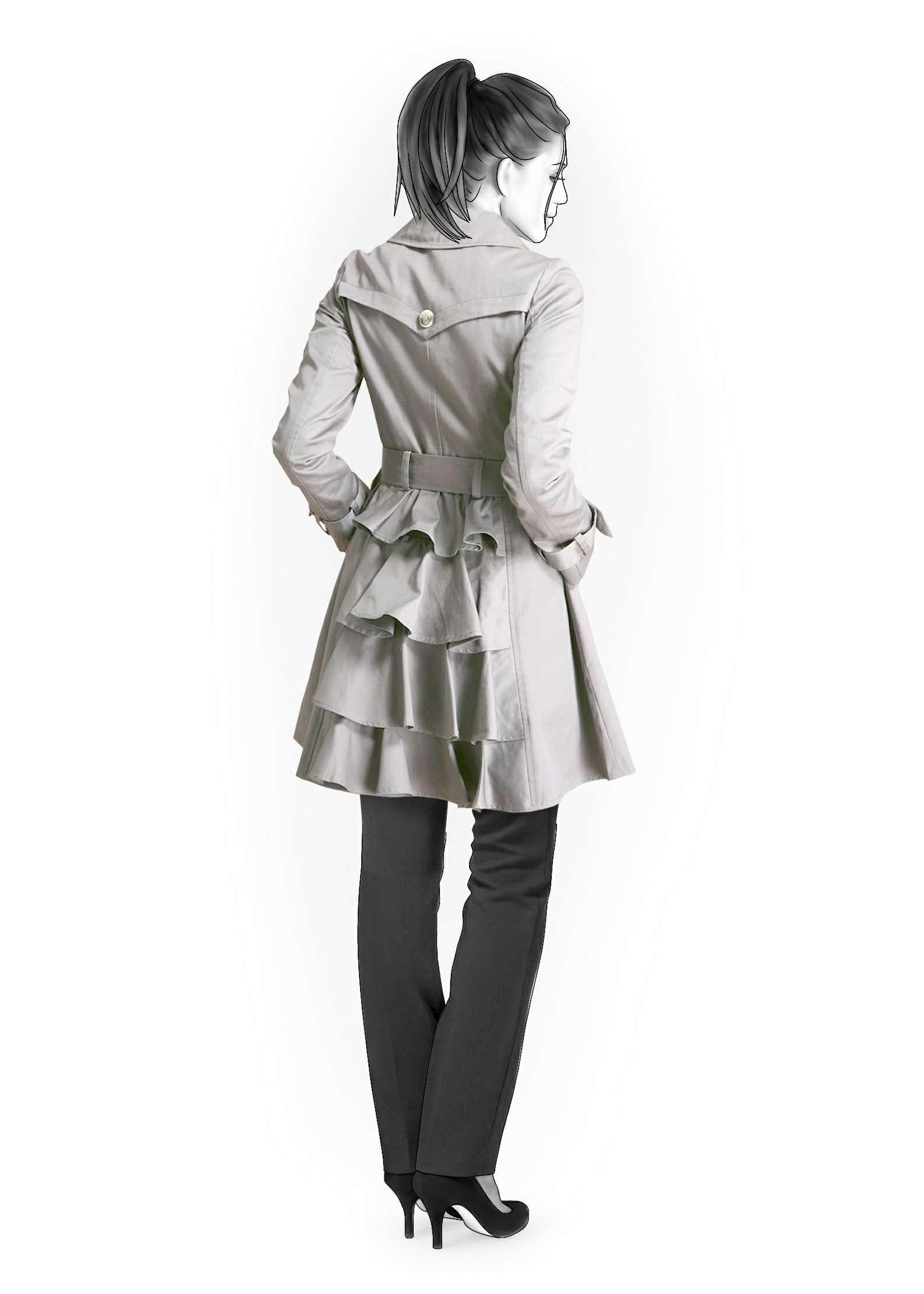 Raincoat - Sewing Pattern #4176 lekala sewing patterns (made to size!)