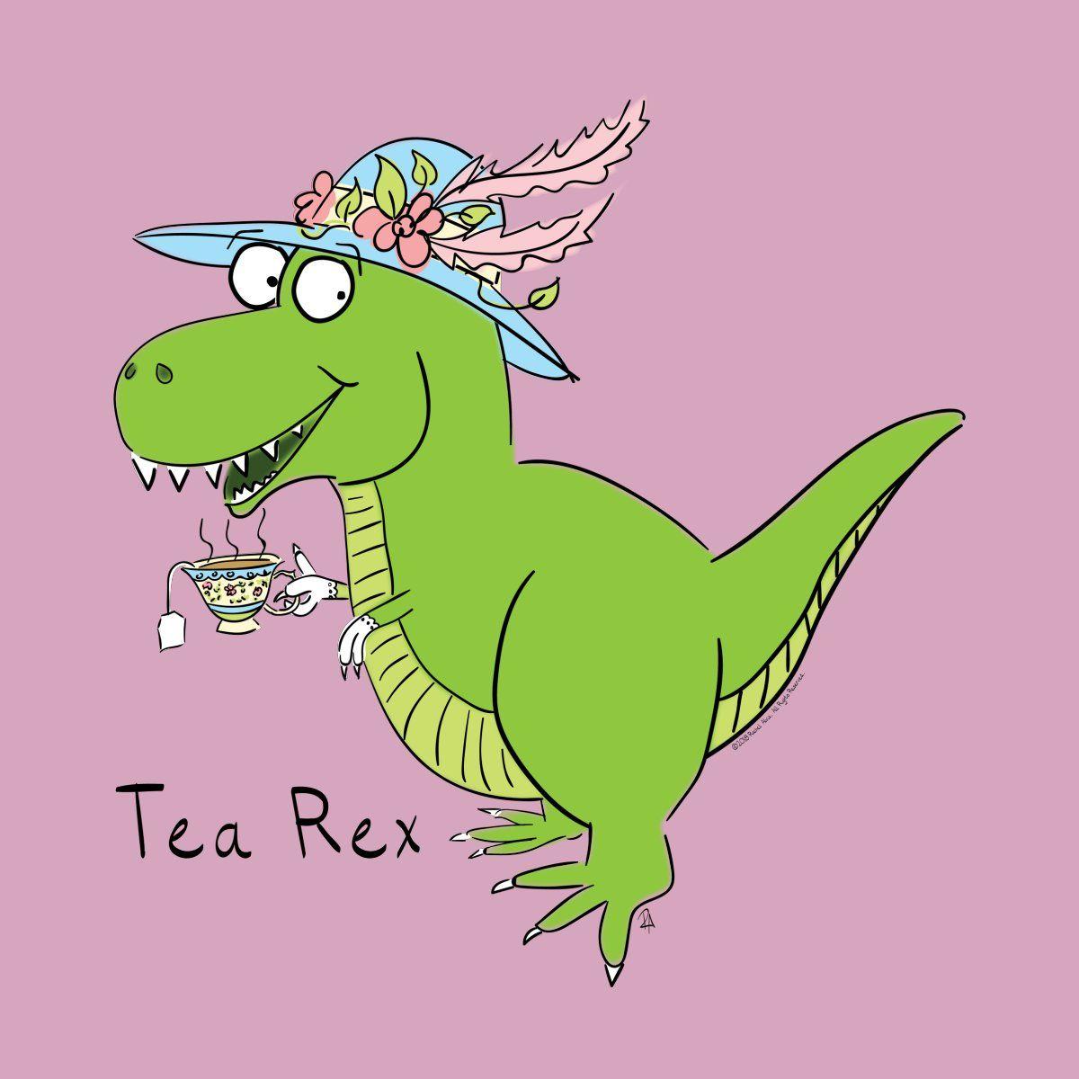 TEA REX KIDS CHILDRENS T-SHIRT TOP FUNNY CUTE CARTOON DESIGN TOP BOYS GIRLS