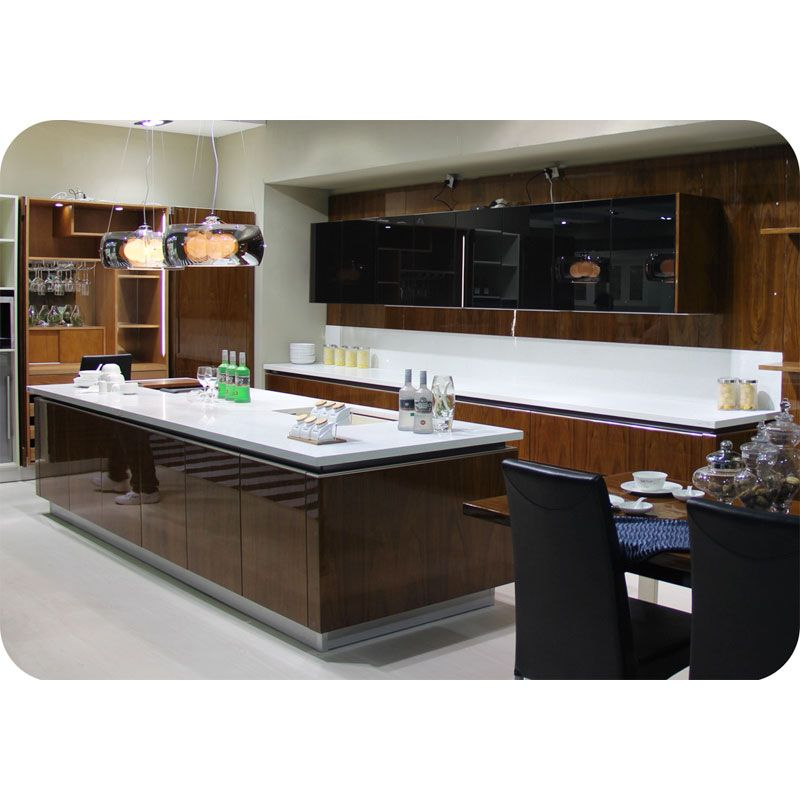 Mdf Wood Kitchen Cabinets: Contemporary Kitchen #Cabinet Carcase Material: MDF