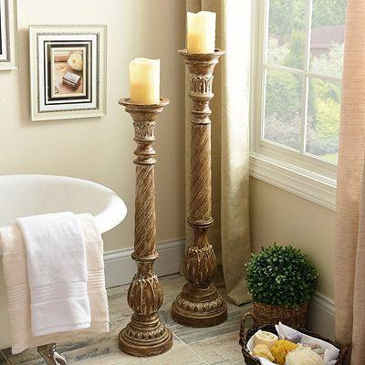 Honey Spiral Floor Candle Holder 36 In