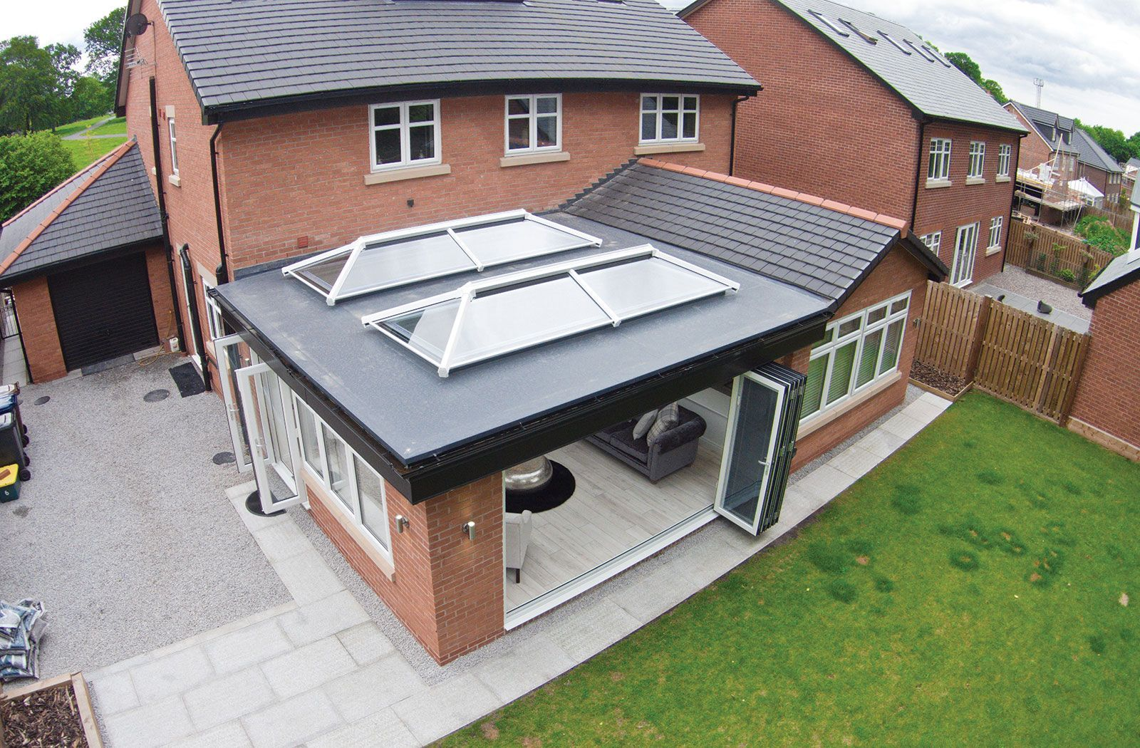 An Extension Is Exciting Whether You Want To Use The Space For Living Dining Or Even Extending Yo Flat Roof Extension House Extensions House Extension Design
