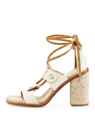 7dd900a441a Rag   Bone Eden Lace-Up Raffia Sandal