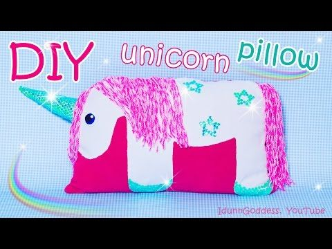 DIY Unicorn Pillow - How To Make A Unicorn Pillow Out Of Old Clothes (NO