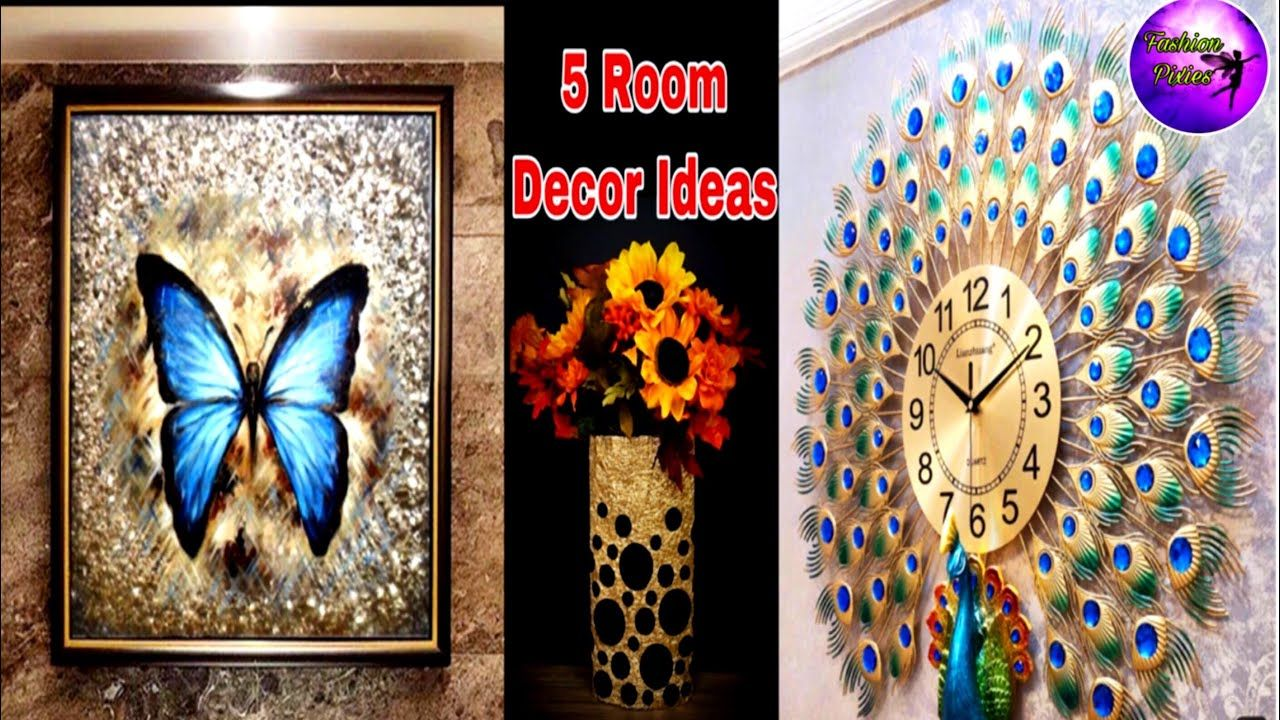 5 Home Decor Ideas 5 Minute Crafts Art And Craft Room Ideas Fash In 2020 Wall Decor Crafts Wall Hanging Crafts Crafts
